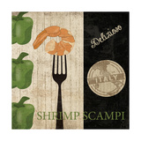 Big Night Out - Shrimp Scampi Poster by Piper Ballantyne