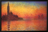Monet Dusk Venice Print by Claude Monet
