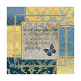 We Don't Stop Playing Poster par Piper Ballantyne