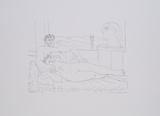 Escultor Resposando Poster van Pablo Picasso