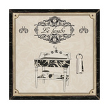 Le Lavabo - Black and Cream Posters af Piper Ballantyne