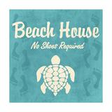 Maison en bord de plage Affiche par Piper Ballantyne