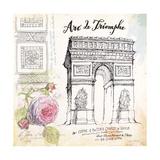 Arc De Truimphe Sketchbook Affischer av Angela Staehling