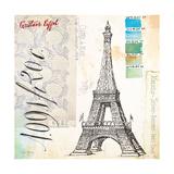 Gustave Eiffel Sketchbook Affischer av Angela Staehling