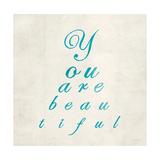 You are Beautiful in Blue Posters van Morgan Yamada