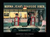 Highway des Schicksals, Englisch Kunstdrucke von Chris Consani
