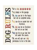 Dog Rules Giclée-Premiumdruck von Jo Moulton