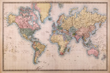 Map - Mercators Projection Juliste