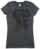 Women's: Star Wars The Force Awakens- Drawn T-シャツ