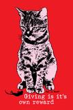 Giving Is its Own Reward Placa de plástico por  Cat is Good