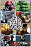 The Avengers (Comic Panels) Plakater