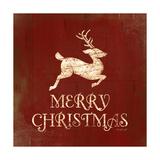 Merry Christmas Deer Schilderij van Jennifer Pugh