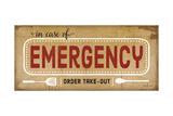 In Case of Emergency Poster tekijänä Jennifer Pugh