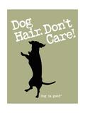 Dog Hair Dont Care Giclée-Premiumdruck von  Dog is Good