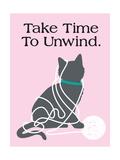 Take Time to Unwind Giclée-Premiumdruck von  Cat is Good
