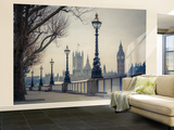 London, Big Ben And Houses Of Parliament Wallpaper Mural