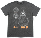Star Wars The Force Awakens- BB-8 Tシャツ