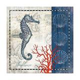 Coastal Blue Seahorse Kunstdrucke von Jennifer Pugh