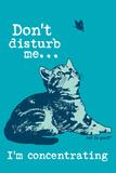 Dont Disturb Me Placa de plástico por  Cat is Good