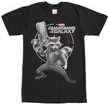 Rocket Racoon- Shocking Target T-Shirts
