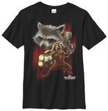 Youth: Rocket Racoon- Twisted Rocket T-skjorter