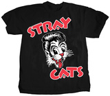 Stray Cats-Cat Head Logo T-Shirt