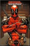 Deadpool Marvel Mounted Print
