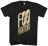 Foo Fighters- Slanted Black Logo T-Shirt
