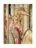 Detail of a Falconer from the Life of St. Martin, C.1326 Giclee Print by Simone Martini