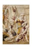 Detail of St. Cecilia Distributing Alms, C.1612-15 Lámina giclée por  Domenichino