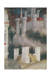 Detail of the Architecture on the Right of St. George and the Princess of Trebizond, C.1433-38 Giclée-tryk af Antonio Pisanello