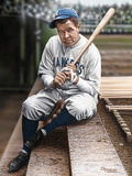 Babe Ruth Sitting on Top Step Giclée-Druck von Darryl Vlasak