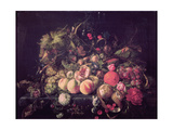 Still Life with Flowers and Fruit Giclee Print by Cornelis de Heem