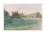 Halton Castle, Northumberland, Eastern Aspect, 19th Century Giclee Print by George Price Boyce