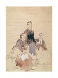 The Three Petroleuses, after 1870 Giclée-Druck von Daniel Urrabieta Vierge