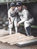 Babe Ruth and the Bat Boy Giclée-Druck von Darryl Vlasak