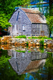 Old Grist mill Portrait Giclee Print by Jobe Waters