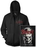 Zip Hoodie: Slipknot- Skull Back (Front/Back) Huvtröja med dragkedja