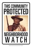 Protected By John Wayne Placa de lata
