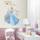 Disney Princess Cinderella Peel And Stick Giant Wall Graphic Veggoverføringsbilde
