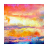 What a Color Art Series Abstract Poster von Ricki Mountain