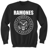Crewneck Sweatshirt: Ramones- Classic Logo Camiseta