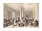 Interior of a Parisian Cafe, C.1815 Giclee Print by Louis Leopold Boilly