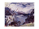 Lake Walchen Surrounded by Mountains, 1925 Gicléetryck av Lovis Corinth