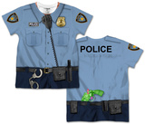 Toddler: Policeman Costume Tee (Front/Back) Camisetas