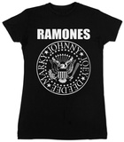 Women's: Ramones- Black Seal Tshirts
