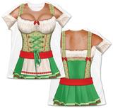 Womens Oktoberfest Costume Tee (Front/Back) Maglietta
