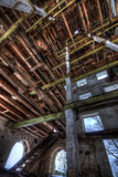 Abandoned Building Interior in Winter Reproduction photographique par Nathan Wright