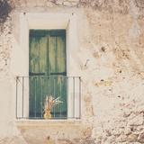 French Balcony with Shutters in Summer Fotografie-Druck von Laura Evans