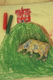 Childs Drawing Fotografisk trykk av Den Reader